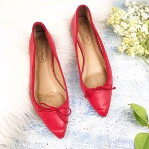 Corso como red ballet flats